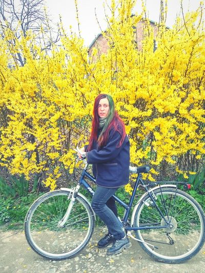 Hi! That's Me Bicycle Spring Spring Flowers