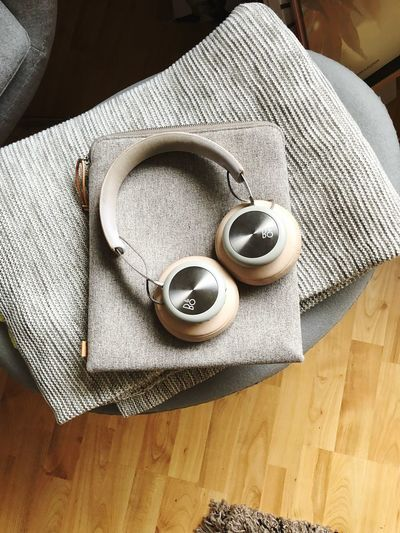 Beoplay H4. Amazing and Beautiful IPhone X Bang&olufsen EyeEm Selects High Angle View Indoors  Still Life Table Textile No People Close-up Home Interior Equipment
