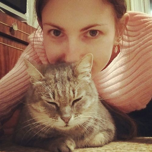 I love my cat! She is very smart, clever, good-natured and cute! I took her at the animal shelter Cat Lovers Cat Nice Mycat Lovely Hello World