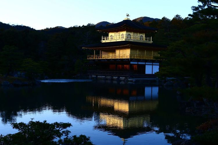 The golden pavilion...kinkakuji in kyoto Golden Pavilion  Gold Japan