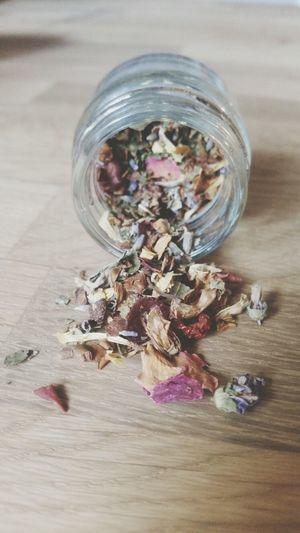 Herbal blend: Lavender, Rose petals and many more. Meditating Tea Lover Teaoftheday Herbal Tea