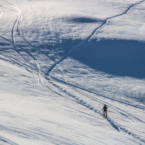 French Alps Ski Holiday Outdoors Day Hiking Snowshoes Snow Winter Cold Temperature Mountain Winter Sport Sport Leisure Activity Skiing One Person Landscape Holiday Environment Scenics - Nature Beauty In Nature Vacations Mountain Range Adventure Trip Snowcapped Mountain Freedom The Great Outdoors - 2019 EyeEm Awards The Minimalist - 2019 EyeEm Awards