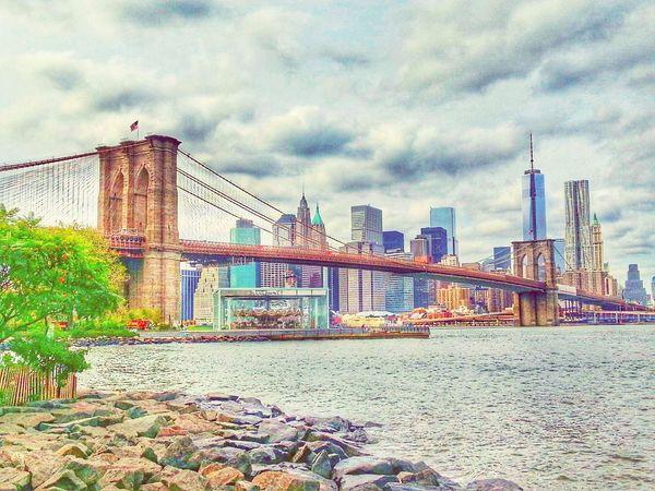 Architecture City Built Structure Outdoors Bridge - Man Made Structure Transportation Skyscraper Cityscape New York Brooklyn Brooklyn Bridge / New York Brooklynbridge