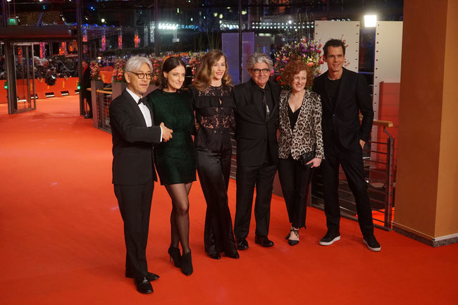 Berlin, Germany - February 24, 2018: The 68th Berlinale jury members Ryuichi Sakamoto, Adele Romanski, Cecile de France, Chema Prado, Stephanie Zacharek and Tom Tykwer attend the closing ceremony 68th Berlinale Adele Romanski Chema Prado Closing Ceremony Famous Film Festival Ryuichi Sakamoto Stephanie Zacharek Tom Tykwer Arts Culture And Entertainment Berlinale Berlinale 2018 Berlinale Festival Berlinale2018 Berlinale68 Cecile De France Entertainment Entertainment Event Famous People Film Industry Front View Mass Media Portrait Red Carpet Red Carpet Event