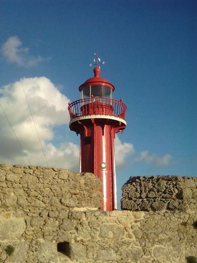 Red Protection Sky Outdoors Lighthouse No People Day Architecture Secret Places TCPM TPCM Break The Mold Clear Sky Figueira Da Foz  Travel Destinations Tourism City Close-up