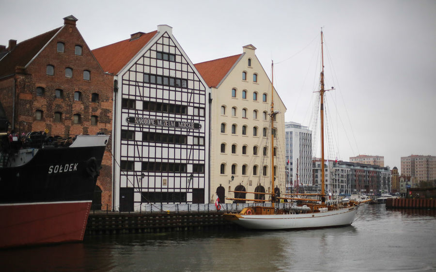 Views of Gdansk in Poland Architecture City City Break Cityline Cityscapes Cozy Danzig Day Enjoying Life Europe Freedom Gdansk Hansestadt Industrial Modern Old Old Houses Overcast Poland Red Relaxing River Traveling View From Above Weather