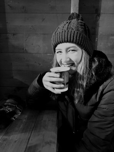 Out with the missus. Drink Drinking Warm Clothing Food And Drink Winter Cold Temperature People Young Women Beautiful People Portrait Christmastime Christmas Lights Christmas Market