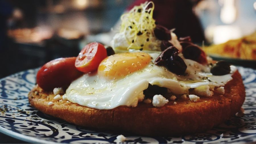 Tiganopsomo Lovefood❤ Capers Fresh Oregano Greek Breakfast Olive Oil Anevato Greek Cheese Tomato Cherry Olives On Branch Feta Cheese Egg Food And Drink Food Ready-to-eat Freshness Close-up Focus On Foreground Still Life Plate Serving Size Wellbeing No People Bread Sweet Food