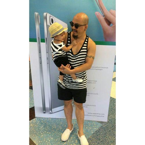 SaMa Daddy And Son Twin Happy :) Street Fashion Same Same Love♥