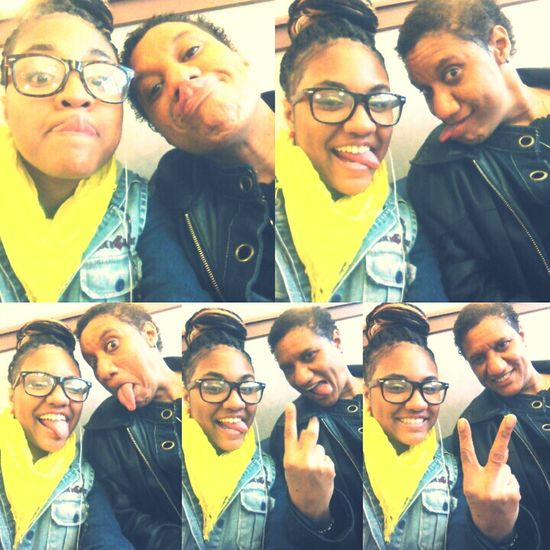 At the doctors office being silly with my mommy hehe* :P ♥