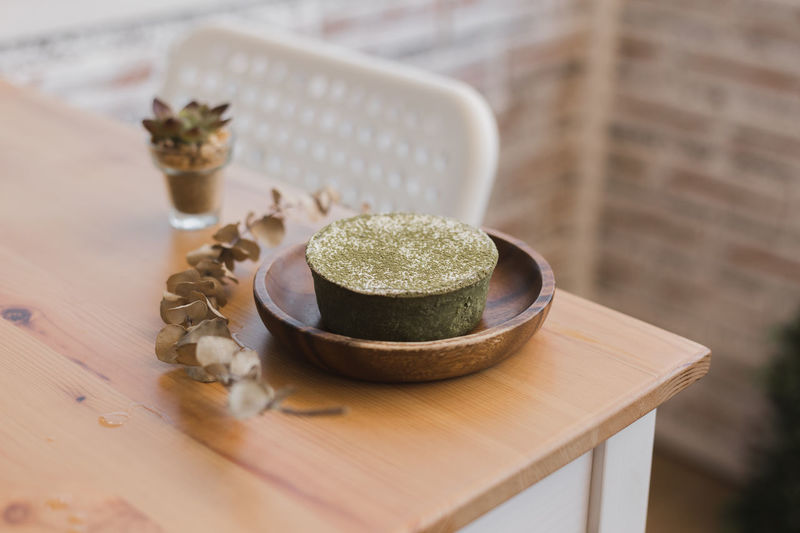 MATCHA TIRAMISU TART - ทาร์ตมัทฉะทีรามิสุ Close-up Container Cutting Board Focus On Foreground Food Food And Drink Healthcare And Medicine Herbal Medicine High Angle View Indoors  Ingredient Medicine Mortar And Pestle No People Selective Focus Spice Still Life Table Tart - Dessert Wellbeing Wood - Material