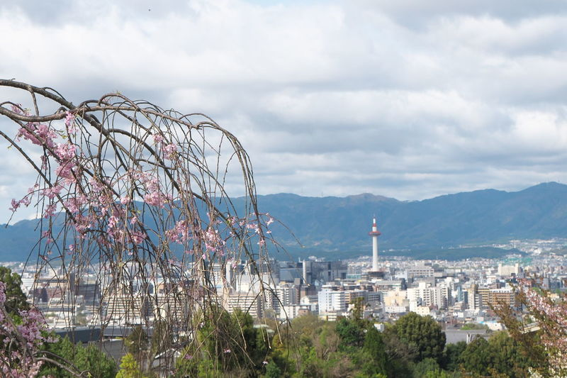 Architecture Built Structure City City Life Cityscape Cloud Cloud - Sky Cloudy Day Japan Kioto Kyoto,japan Modern Mountain Nature No People Outdoors Sky Travel Destinations 京都