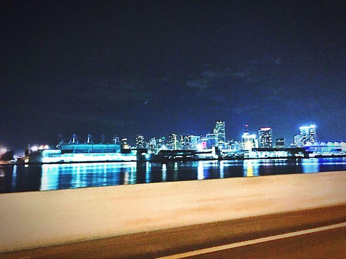 Miami skyline on a Friday night
