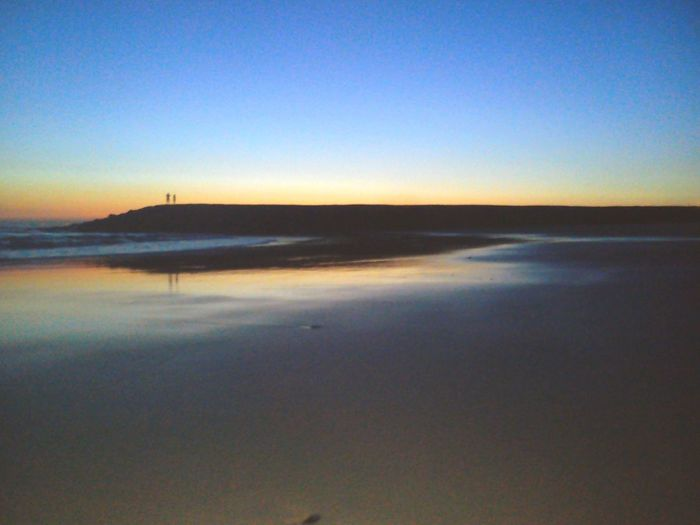 Sea Clear Sky Water Scenics Sky Outdoors Beach Beauty In Nature Tranquility Night Sunset Landscape The Week On EyeEm Portugal Reflection Sand Costadacaparica Costa Da Caparica Sunset_collection Sunset Lovers