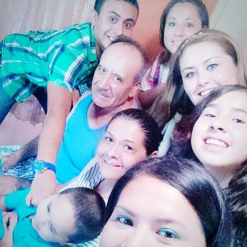 Con mi familia los amo