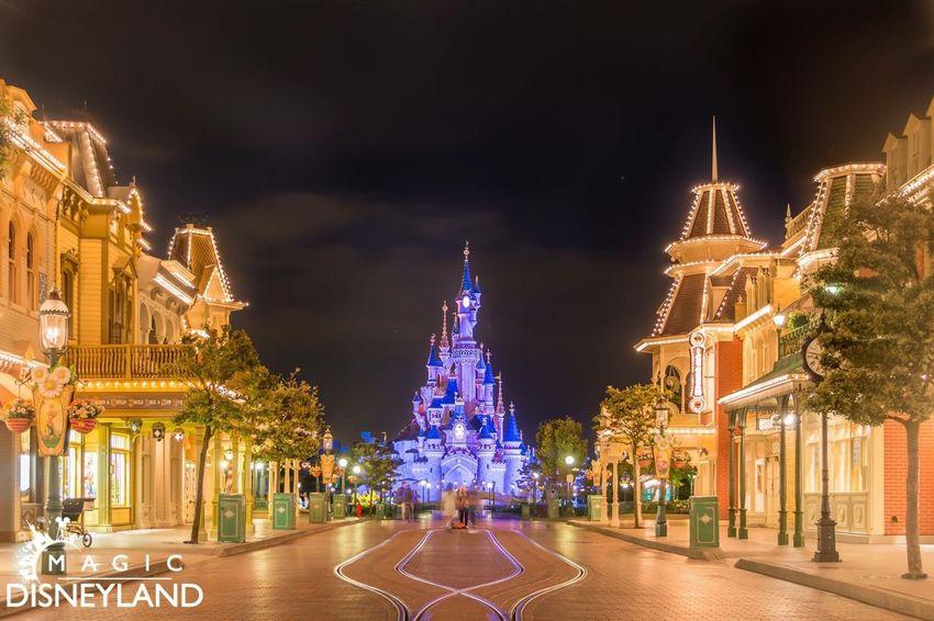 Night Illuminated Architecture Travel Destinations Disney Disneylandparis Disneyland Resort Paris Arts Culture And Entertainment Amusement Park Disneyland Disneyland Paris