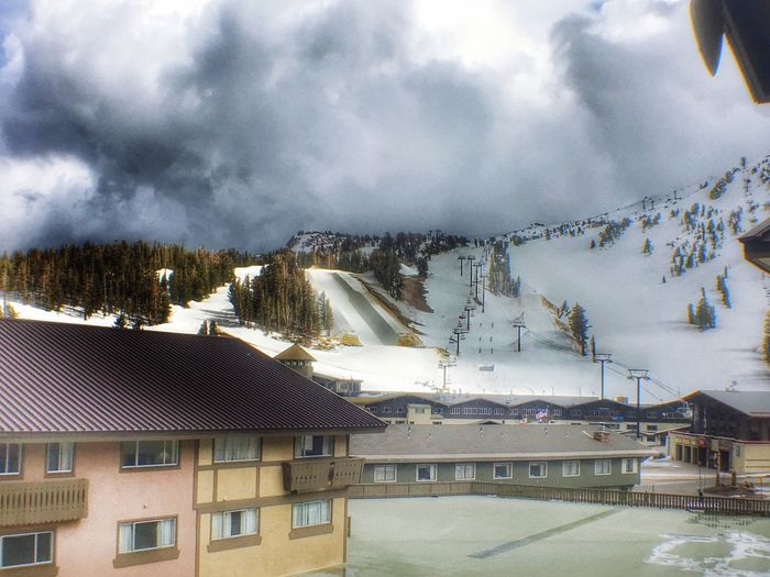 A Storm Is Coming In For The Night Hotel View Hotel Window In The Room From My Point Of View Check This Out From My Perspective Snow Covered Mountains Snow Covered Landscape