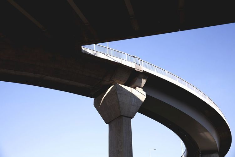 Low Angle View Of Bridge Against Clear Sky