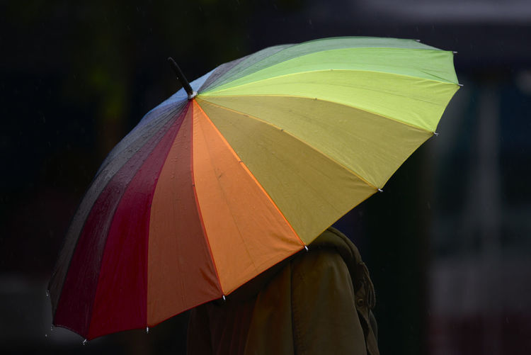 Rear view of umbrella