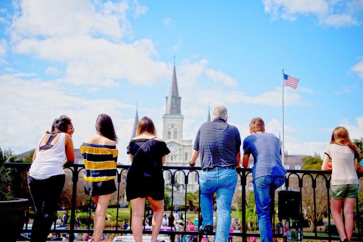 Tourists on a city