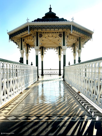 Architecture Built Structure Sky Railing Nature Day No People Architectural Column Travel Destinations The Way Forward Water Sunlight Direction Tourism Gazebo Outdoors Travel Connection Clear Sky Tiled Floor Ornate Brighton Bandstand Brighton Brighton Uk Victorian Architecture