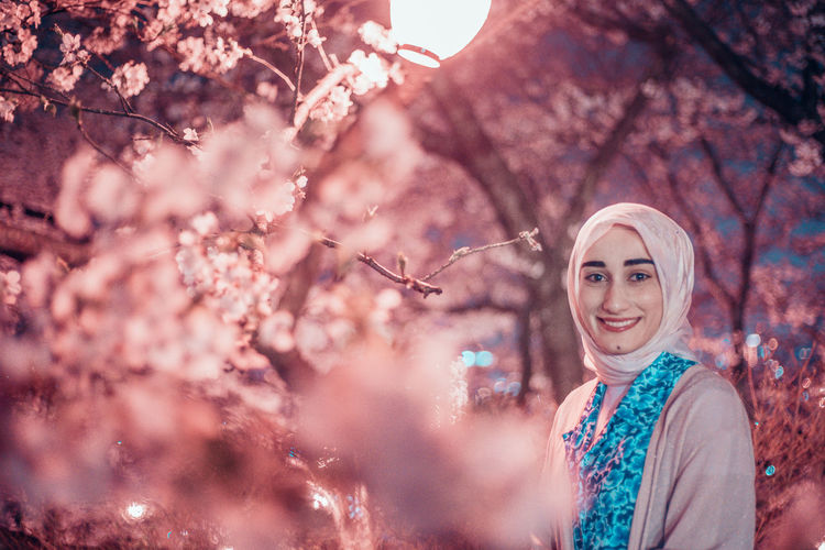 // whatever you're, be a good one // Japan Muslim Religious  Scarf Model EyeEm EyeEm Selects Portrait Portrait Of A Woman Past Pastel Pastel Colored Tones AMPt_community Shootermag Smile Smiling
