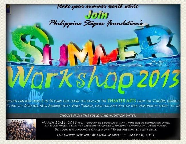 Summer Workshop 2013
