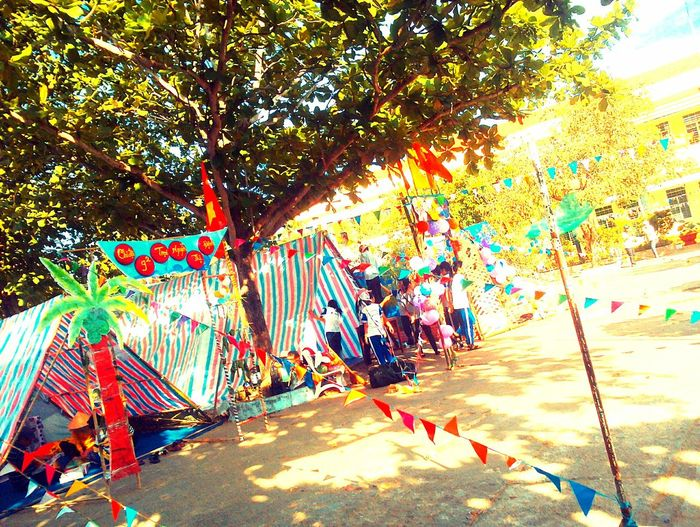 Multi Colored Outdoors Tree Day No People Sky Viet Nam Students Day Sunnyday 🌸🌷🌿 Bymyphone