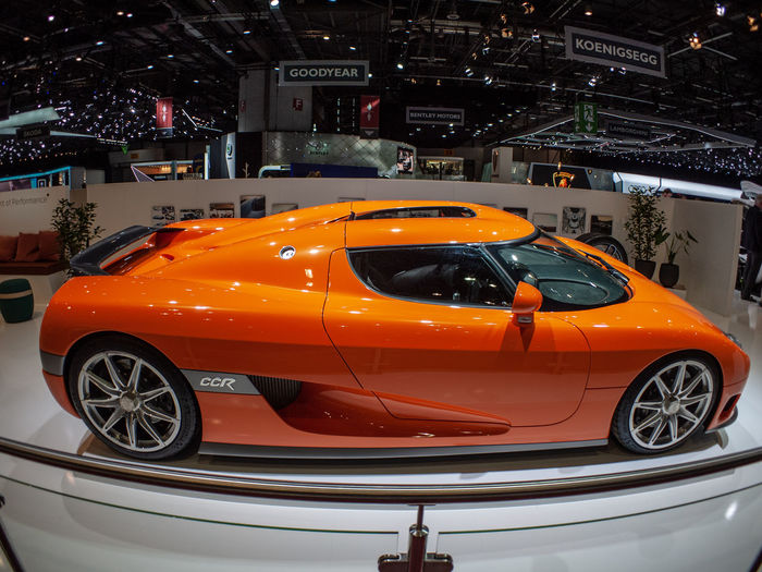 Mode Of Transportation Transportation Motor Vehicle Car Land Vehicle Orange Color Illuminated Geneva GenevaInternationalMotorshow2019 Hypercar Sportcar CCR Koenigsegg