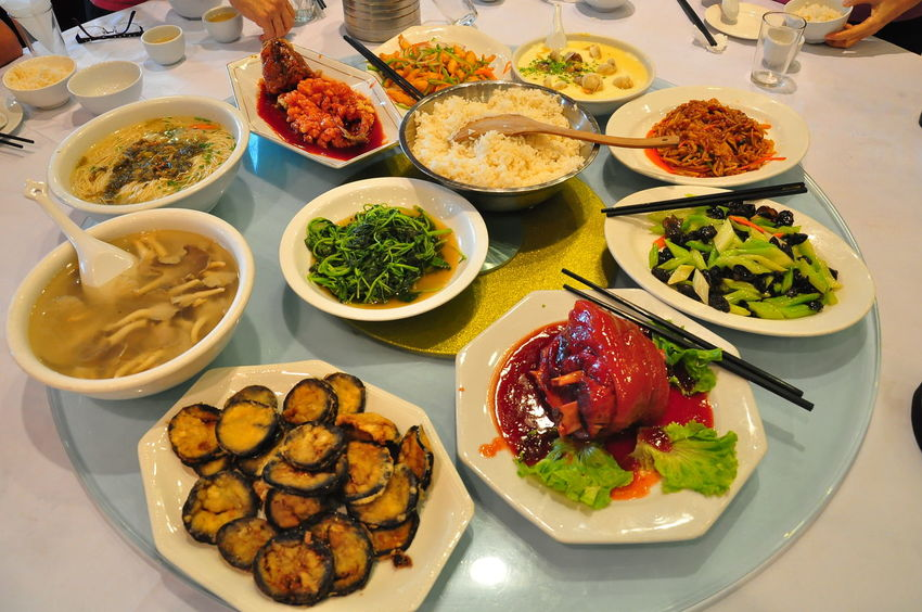 Some of common chinese food found in China. Including Dim Sum, pork knuckle, and the gwaihua fish Chinese Feast Chinese Food Dim Sum Shanghai Chinese Street Food Food Food And Drink Food Stall No People Pork Knuckle Steam Food Street Food EyeEm Ready   EyeEmNewHere