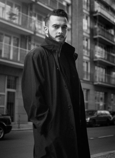 Modern terrorism Portrait One Person Only Men One Man Only Fashion Young Adult City Standing Adult Elégance Men Handsome Building Exterior Adults Only Looking At Camera Outdoors Built Structure People Architecture Lifestyles Blackandwhite Bnw Berlin Adult Portraiture Berlin Love The Portraitist - 2018 EyeEm Awards