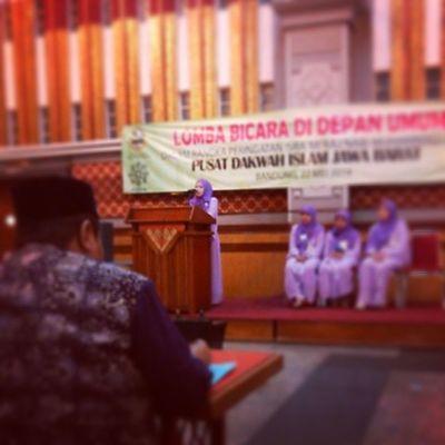 Liputan lomba bicara didepan umum di Pusdai Jabar seru karena banyak bermunculan ustadzah-ustadzah berpotensi utk menjadi pendakwah di Jawa Barat