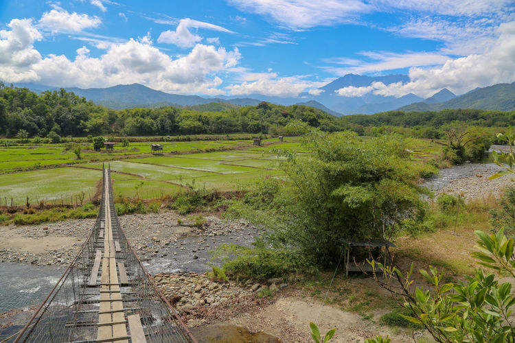 Rail Transportation Tranquil Scene Track Tranquility Railroad Track Scenics - Nature Day Plant Nature No People Sky Landscape Environment Transportation Field Cloud - Sky Tree Beauty In Nature Land Outdoors Grass