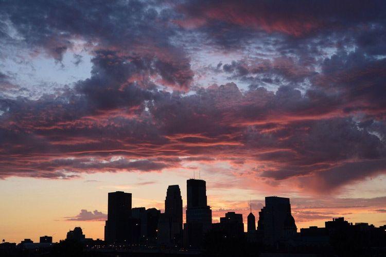 Urban Escape Silhouette Sunrise Color Explosion