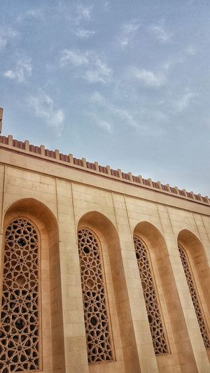 Muslim Religion Bahrain Mosque Arch Sky Architecture Building Exterior Close-up Built Structure