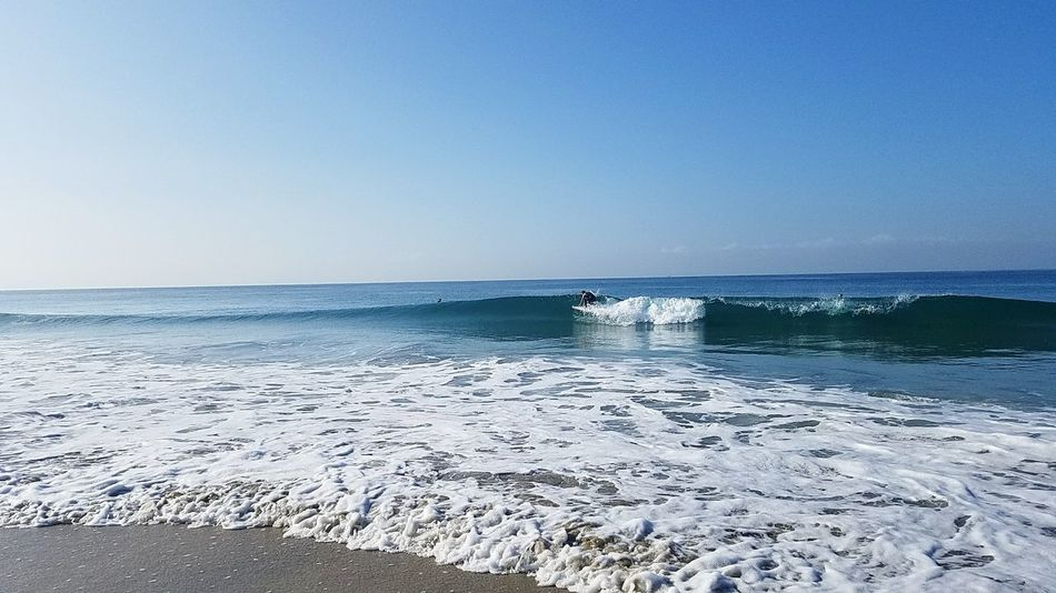 Rights Scenics Coastal Feature Beachphotography NPB Panorama Clear Sky Beach Godrules Asthetics Waves Breaking Shore Sand No People NoEffects  Full Frame Full Length Motion Surfing Tide Wave Surfingphotography Leisure Activity Skill