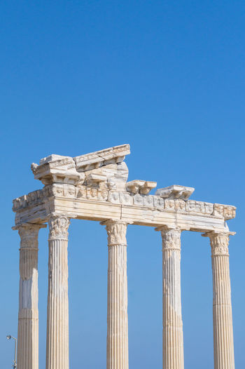 Antique Architectural Detail Architecture Aspendos  Blue Sky Clear Sky Close-up Background Aspendos  Aspendos Ancient Theatre Focus On Foreground Historical History Nature Old Old Ruin Pamphylien Ruined Ruines Structures & Lines Seleucia Travel Destinations Traveling