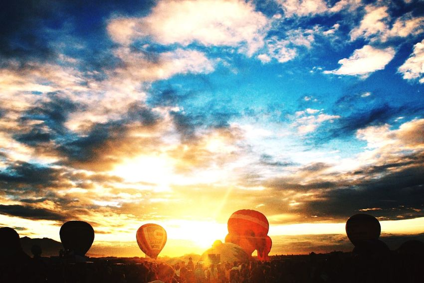At the 19th Philippine Hot Air Balloon Festival in Clark Freeport, Pampanga Hot Air Balloons Landscape Sunrise Traveling