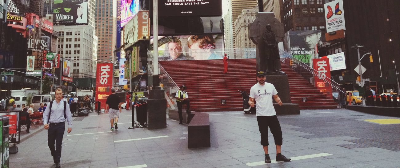 The time pass, but i never forgot. Walking Around TimesSquare New York Holydays That's Me Hello World
