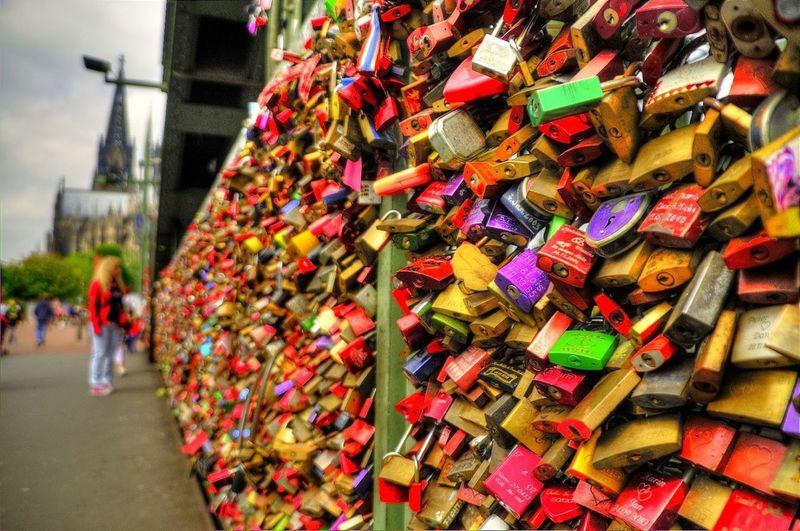 Abundance Of Multi Colored Padding Locks