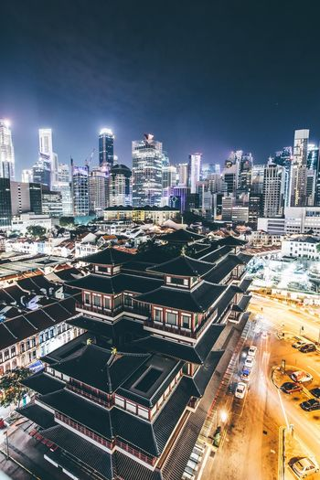 Night Nightphotography Singapore Building Exterior Architecture Built Structure Cityscape City Building Sky Office Building Exterior Modern Landscape Skyscraper