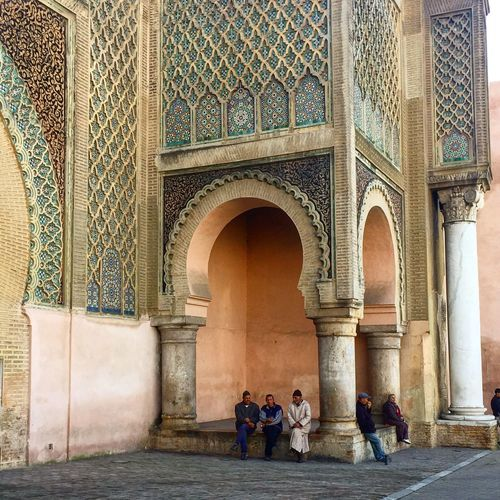 Morocco Travel Photography Travelgram Meknès City Architecture Architectural Column History Bab Mansour