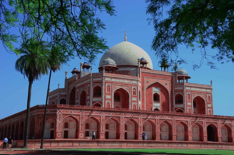 One of the architectures of mughal(mogul) dinesty,The Himayun Tomb.. Architecture Travel Destinations Travel Sky Building Exterior Tree City Cultures Day Hello New Delhi Check This Out Hi! Hello World India The Great India Nikon D7000 Clear Sky Heritage Mogul Mughal Red Blue Open Edits