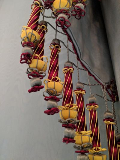 Curtain tassles #Chatsworth #curtains #tassle Multi Colored Red Close-up Decorative Art