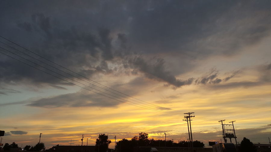 Sunset Cloud - Sky Dramatic Sky Silhouette Sky No People Nature Tranquility Outdoors Beauty In Nature Scenics Technology Bird Day