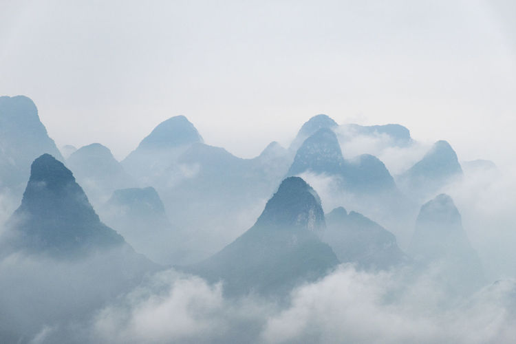 View from the Mountain Yao in Guilin, China Beauty In Nature China Cold Temperature Day EyeEm Best Shots EyeEm Gallery EyeEm Nature Lover EyeEmNewHere Fog Guilin Landscape Mountain Mountain Yao Nature No People Outdoors Photographer Photooftheday Scenics Sky The Week Of Eyeem Tranquil Scene Tranquility Weather The Great Outdoors - 2017 EyeEm Awards BYOPaper! Live For The Story