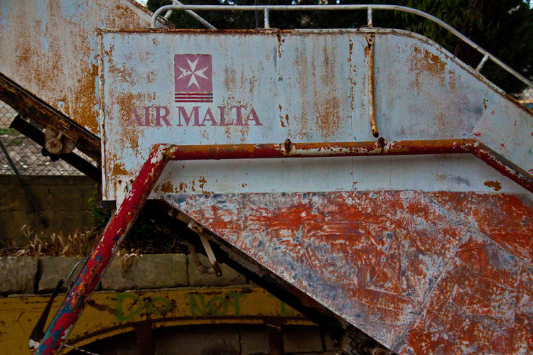 Abandoned Air Malta Damaged Desolate Malta Outdoors Plane Rusty