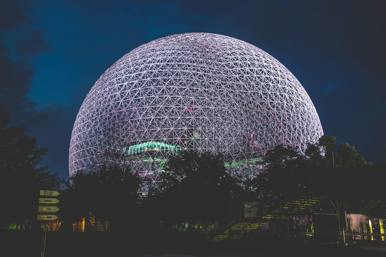 HUAWEI Photo Award: After Dark Architecture Building Exterior Built Structure City Cloud - Sky Dome Geometric Shape Illuminated Low Angle View Nature Night No People Outdoors Plant Sky Sphere Tourism Travel Destinations Tree