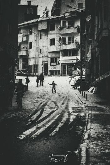 Snow First Eyeem Photo Winter Snow Kids. Kidsphotography Street Photography Streetphoto_bw