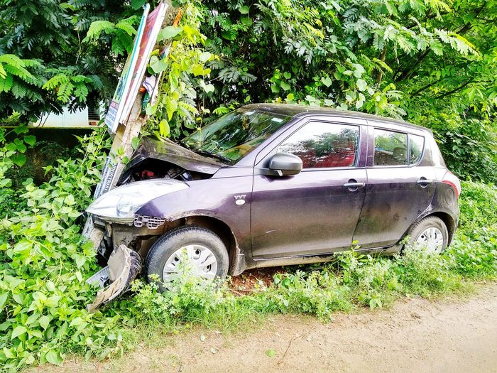 Accident... Land Vehicle Car Grass